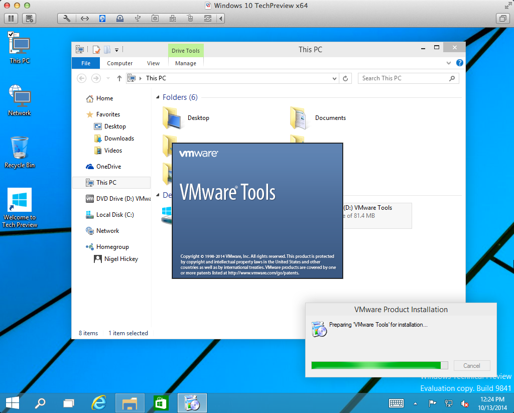 how to get tools up on win 10